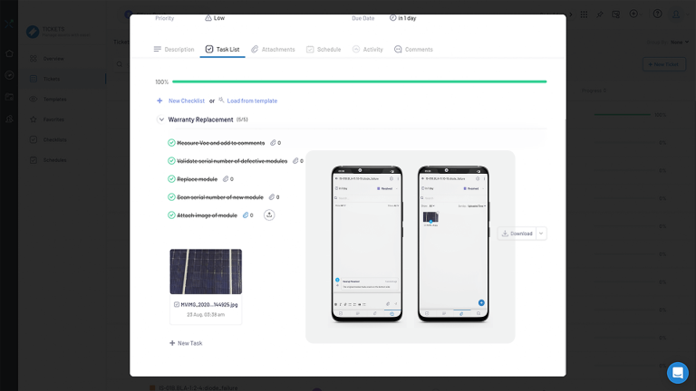 work management system for solar recurring and scheduled tasks