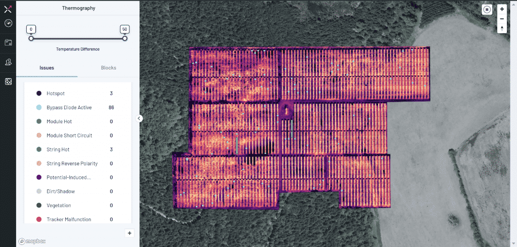 drone thermography to identify PV module hotspots