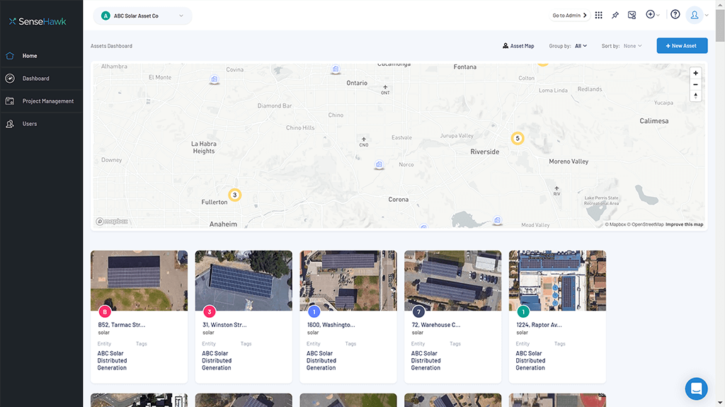 solar sites of KW,MW, GW including utility and rooftop solar